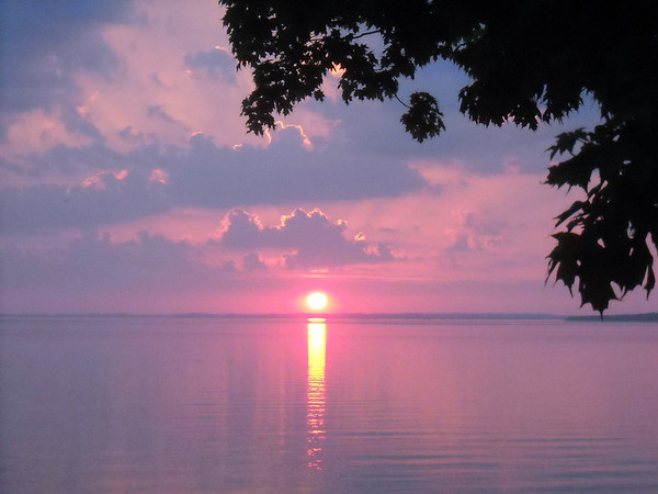 A sunrise overlooking Grand Traverse Bay. Photo by Mollie Moody.