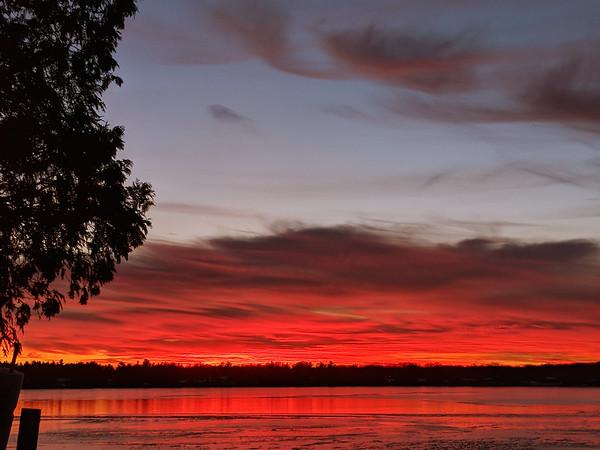 Sunset over Long Lake. Photo by Lynn Huffman.