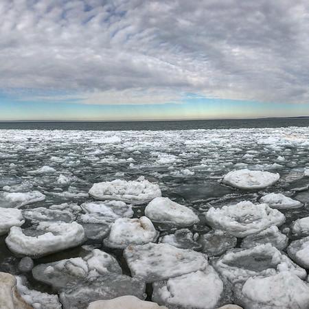 Ice floe on Good Harbor. Photo by Karl Lievense.