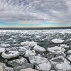 Ice floe on Good Harbor. Photo by Karl Lievense.