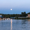A harvest moon over Clam River. Photo by Mike Haley.