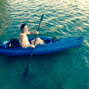 Jamie takes a paddle on Long Lake. Photo by Lynn Huffman.