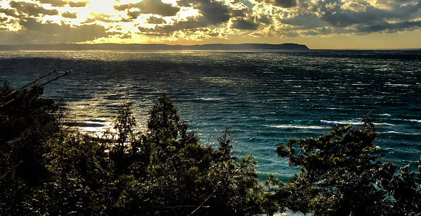 A view from bluffs near Leland on a windy afternoon. Photo by James Saffell.