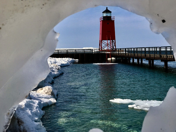 The last day of winter at the Charlevoix Lighthouse. Photo by Paul Bolhuis.