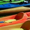 Kayak rentals near Boardman Lake. Photo by Lynn Huffman.
