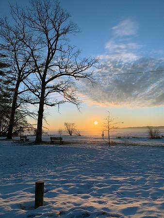 Late winter sunrise over East Bay. Photo by Jenny Dykstra.