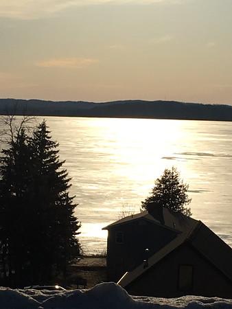 Sunset bike ride looking over Lake Leelanau. Photo by Russ VanHouzen.