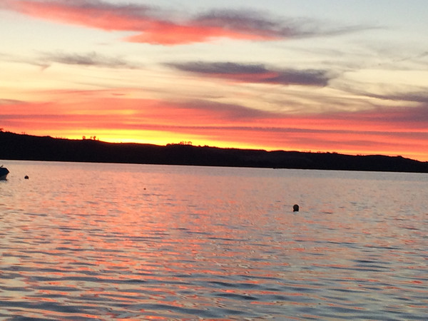 Another beautiful sunset on Little Glen Lake. Photo by Sharon Geisler.