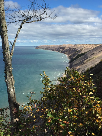 Log Slide Overlook at Pictured Rocks National Lakeshore. Photo by Meg Benner.