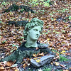 A bust in woods near Good Harbor Bay. Photo by Douglas Verellen.