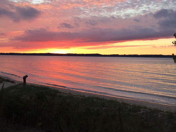 A sunset near Elk Rapids. Photo by Andrea Weyhing.