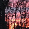A stained-glass sunset from a Traverse City porch. Photo by Cheryl K. Gerschbacher