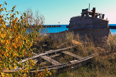 Whitefish Point a few years ago by the harbor south of the lighthouse. Photo by Gary Kent Keyes.