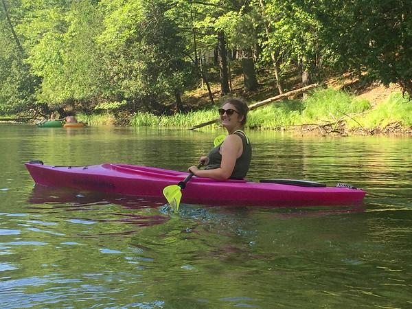 Allison Johnston kayaks the Platte River. Photo by Stephanie Johnston.