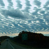 The sky between Traverse City and Cadillac on a fall weekend. Photo by Russ and Ann McNamara.