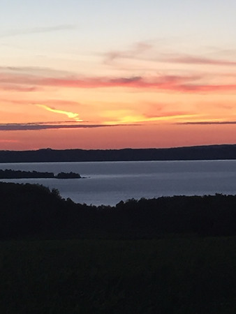 Scenic overlook, Old Mission Peninsula.<br /> Photo by Meg Benner.