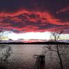 A fiery sunset on Long Lake. Photo by Kim Wagner.