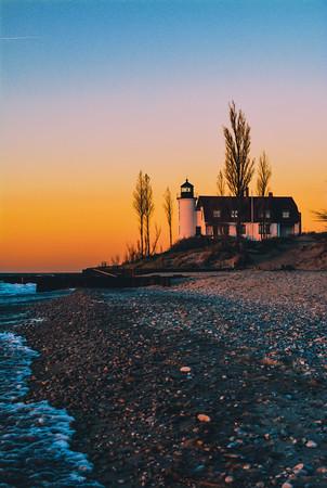 Sunset at Point Betsie. Photo by Brianna Sparkman.