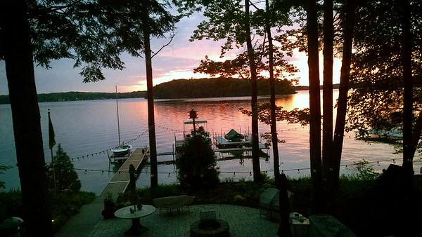 A Long Lake sunset from Long Lake Peninsula. Photo by Peter Zirnhelt.