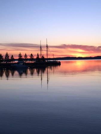 Early sunrise over West Bay. Photo by Russ Van Houzen.