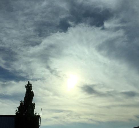 Clouds over Traverse City. Photo by Cheryl K. Gerschbacher.