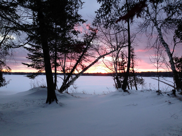 Sunset over Birch Lake. Photo by Barb Polzin.
