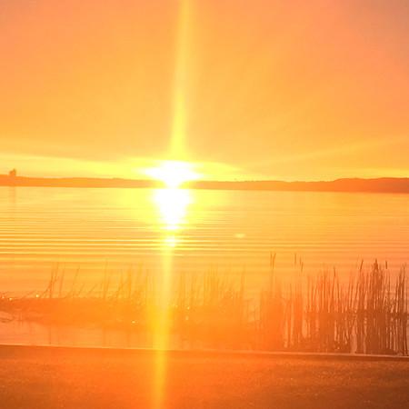 Sunrise over East Bay Park. Photo by Peggy Ellibee.