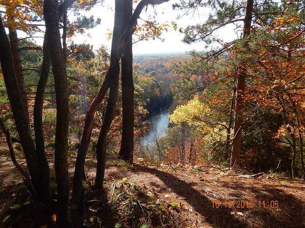 Trail over looking the Manistee River in Wexford County. Photo by Audrey Hollyfield.