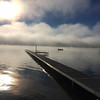 Fog rolling in over South Lake Leelanau. Photo by Terry Herman.