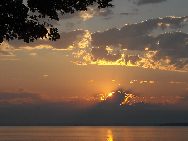 Sunrise overlooking West Grand Traverse Bay. Photo by Mollie Moody.