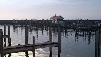 The Northport Marina waits for boats. Photo by Don Montie.