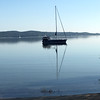 Suttons Bay serenity during a morning bike ride. Photo by Russ Van Houten.