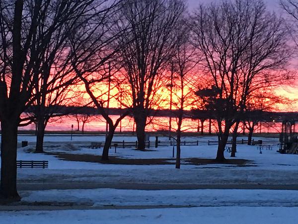 February sunrise over West Bay. Photo by Russ VanHouzen.