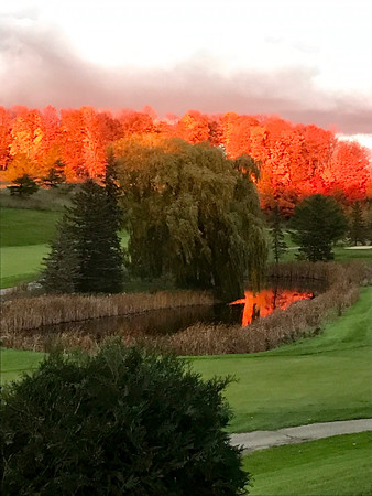 November sunset over Spruce Run Golf Course at the Grand Traverse Resort. Photo by Jack Berry.