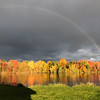 Rainbows over Boardman Lake. Photo by Dennis Schmude.