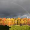 Rainbows over Boardman Lake. Photo by Dennis Schmude.