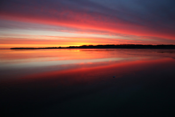 Sunrise over Suttons Bay. Photo by Joseph Nelson.
