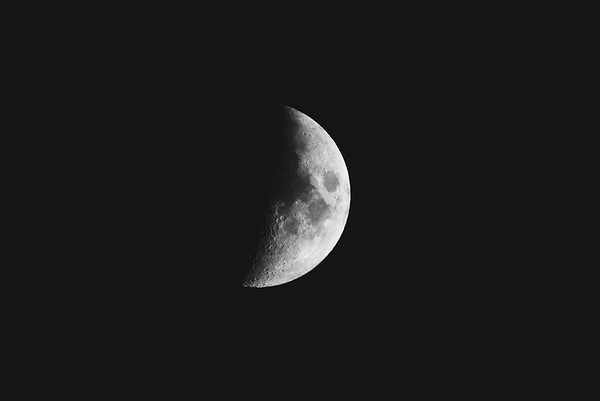 A half moon in May. Photo by Michael Novak.
