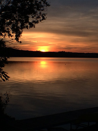 Sunset over Glen Lake. Sharon L. Geisler.