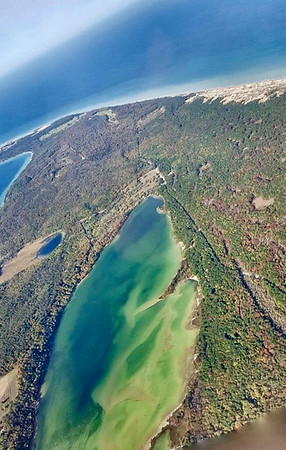 An autumn plane ride over Leelanau County. Photo Sue Swift.