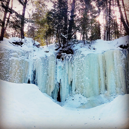 The Eben Ice Caves in the Upper Peninsula's Rock River Canyon in February. Photo by Christine Snow.