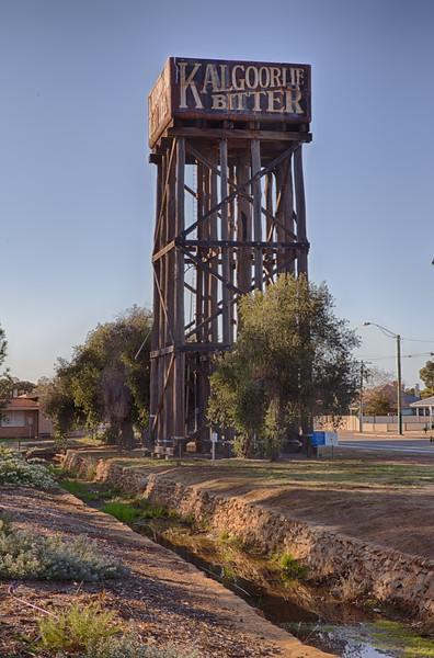 Water tower at Merredin station