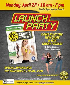 04 27 09 Gold's Gym Venice Beach Launch Party of Wii Cardio Workout www.goldsgym.com.  360 Hampton Drive Venice, Ca 90291 Photos by Venice Paparazzi.  www.venicepaparazzi.com