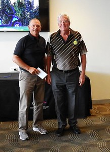 Geoff Cranfield (runner-up in 2019 NSWVGA Stroke-Play Championships) with Tournament Director Les Knox Pittwater On-Line News 28th April, 2019