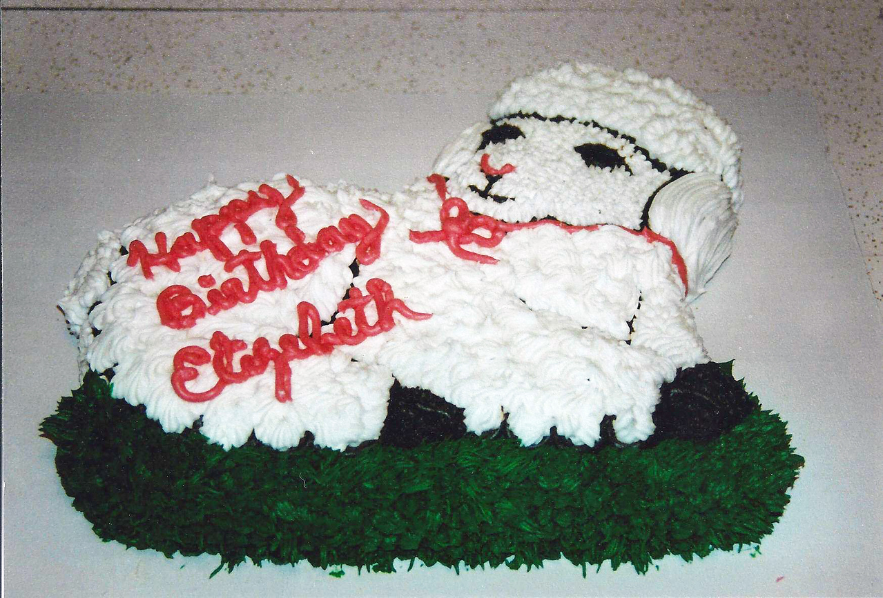 Elizabeth's 1st birthday cake.  4-4-2011 would have been her 13th Birthday.