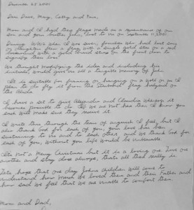 This letter was attached to the Red Flag JCH that follows. This letter was attached to the red flag with the initials JCH and a yellow star..