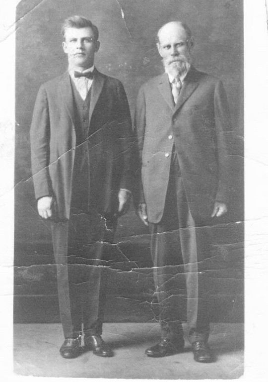 Erdman Schaak b. 13 March 1856 (according to his Naturalization Papers and MT Death Certificate) while he's referred to Erdman Abraham Schaak, Sr. in Ester's Schaak Kehler book.  The younger man name is August, a son and  brother of Jacob Schaak.