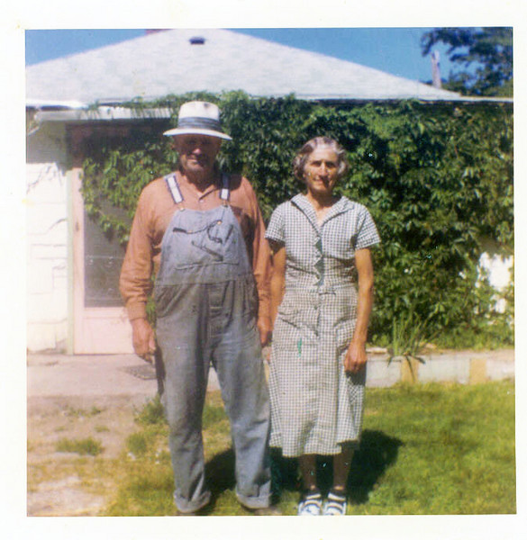 Grandpa Jacob Schaak and 3rd wife Marie,<br />   father of Sarah and Grandfather of Victoria