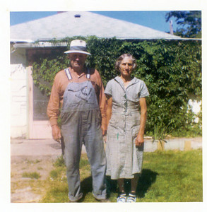 Grandpa Jacob Schaak and 3rd wife Marie,   father of Sarah and Grandfather of Victoria