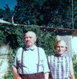 Grandpa Jacob Schaak and Marie Jerome, Idaho-1977